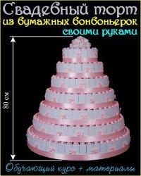 Свадебный торт из бумажных бонбоньерок (2016)